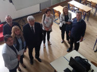 Župan Komadina obišao Prirodoslovno i grafičku školu