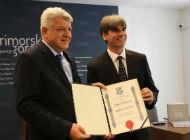 Župan Komadina uručio priznanje PGŽ gradonačelniku Dariju Vasiliću u povodu 25 godina na čelu Grada Krka